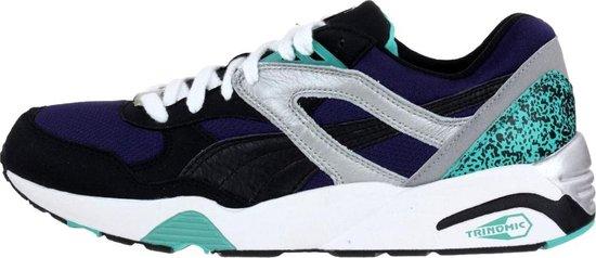 bol.com | Puma Trinomic R698 Sneakers Heren Zwart/blauw ...