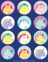 Unicorn Sticker Album for Girls