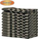 Queens 10-pack theedoeken 65x65 cm zwart