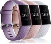 YONO Siliconen bandjes - Fitbit Charge 3/4 - 3-pack - Small