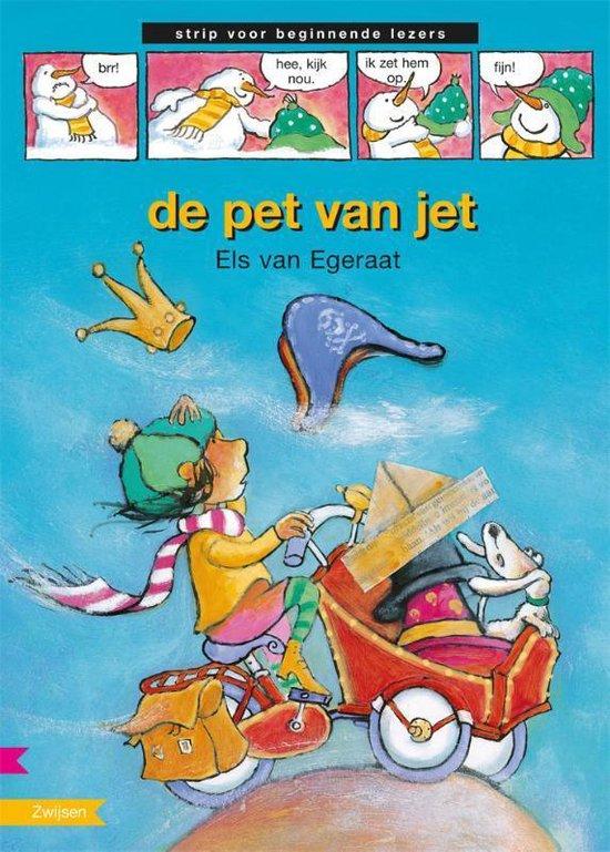 Strip voor beginnende lezer - De pet van Jet - Els van Egeraat  