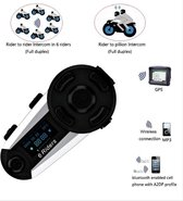 NIEUW T20S / V6 Pro Bluetooth LCD motor intercom interphone headset 1200meter 1 module