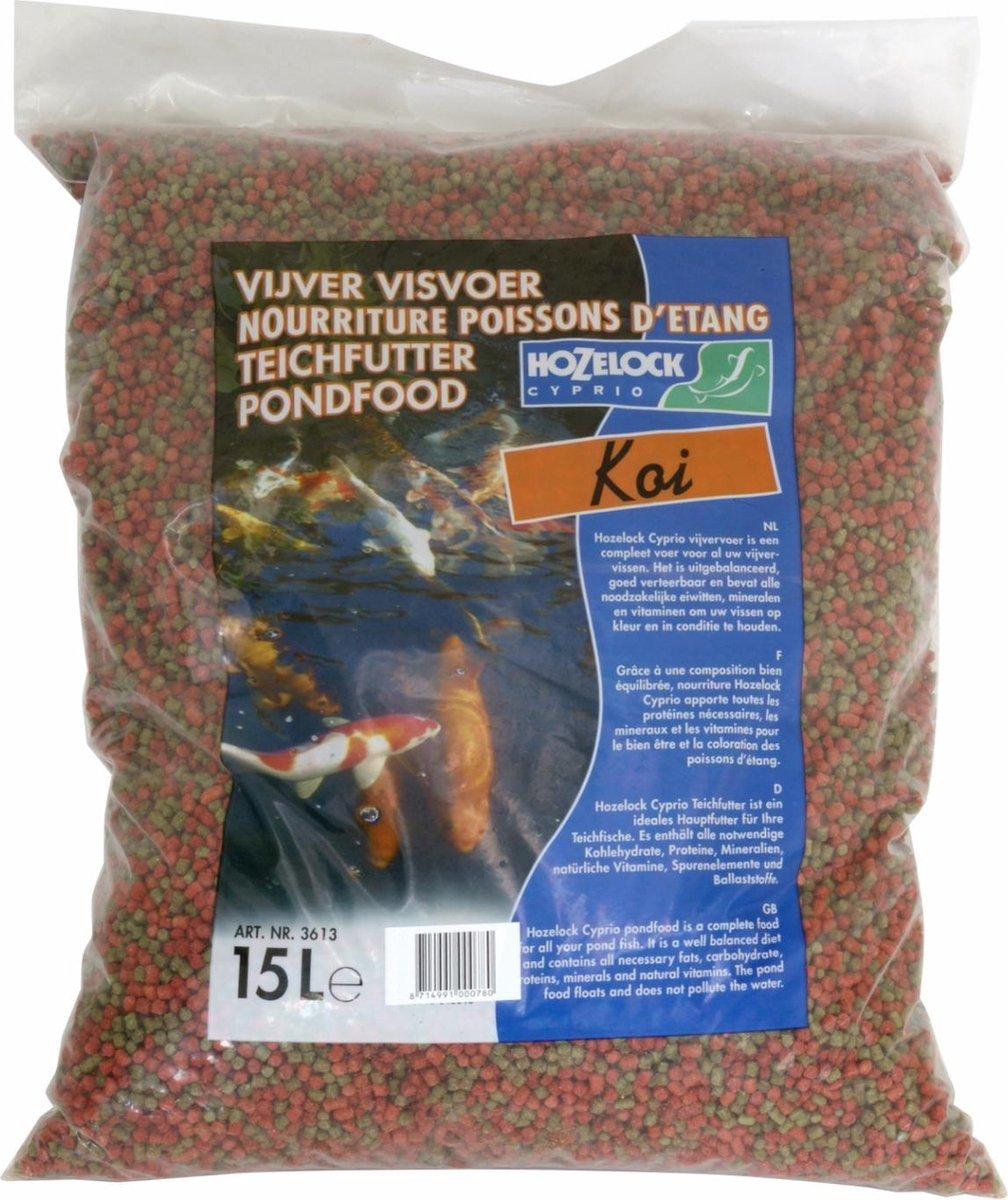 Hozelock Koi voer mix 15 liter