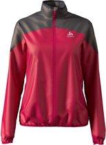 Odlo Jacket Element Light Dames Sportjas - Cerise-Odlo Graphite Grey - Maat M