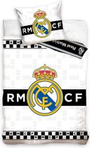 REAL MADRID Checkers 140x200cm Wit