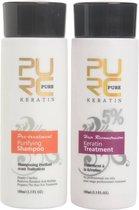 PURE Braziliaanse Haar Keratine | 2 x 100ml | Haarverzorging | Keratine behandeling | Hair Keratine Treatment | Beschadigd Haar | Herstelt Haar