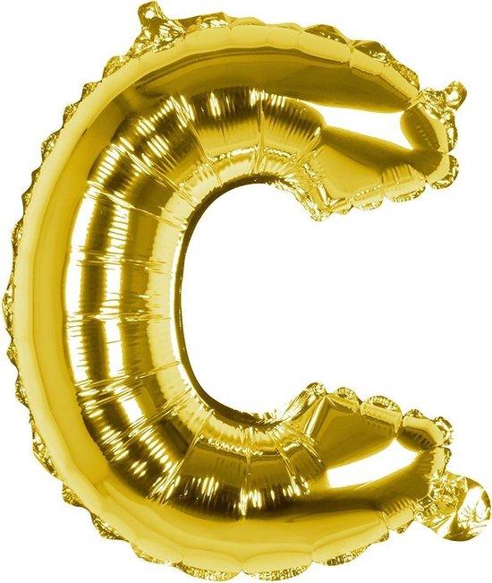 Boland Folieballon Letter C 36 Cm Goud