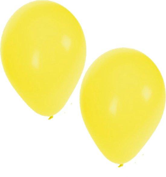 25x Gele ballonnen - 27 cm - ballon geel voor helium of lucht