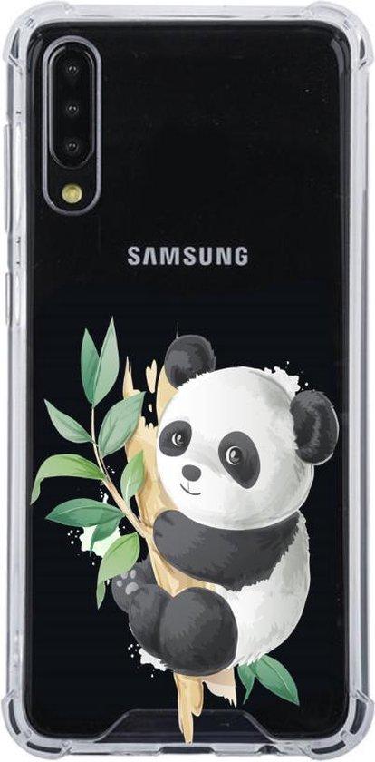 Samsung Galaxy A50 Transparant siliconen hoesje (Panda)