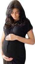Het Bevallingsjurkje Bamboo - Black XS/S bevalling & kraamtijd