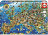 Educa Puzzle. Crazy European Map 500 Teile