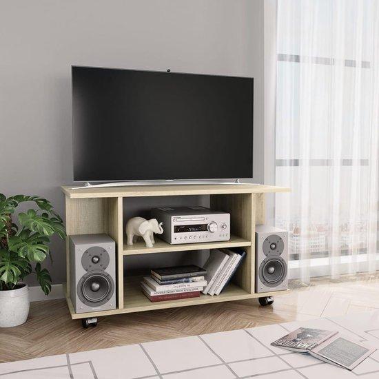 Tv Audio Meubel.Bol Com Tv Meubel Met Wieltjes 80x40x40 Cm Spaanplaat Sonoma
