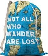 'Not all who wander are lost' - Reis Waszak - Reis Quote - Voor Op Reis / Reizen / Vakantie - Vuile Was