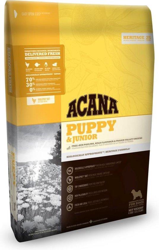 6 kg Acana heritage puppy junior hondenvoer