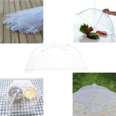 Vliegenkap Inklapbaar - Voedselkap Openklapbaar  - Tent - Inklapbaar Net - Insectennet - Bescherming van uw Voedsel - Diverse Kleuren - 30cm