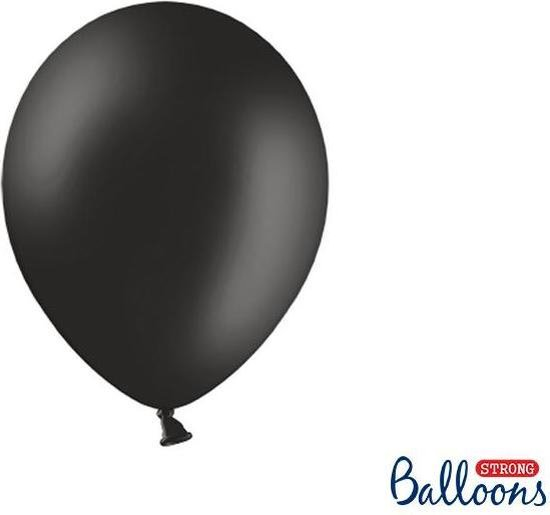 Strong Balloons 27cm, Pastel zwart  (1 zakje met 50 stuks) super sterke ballonnen