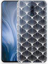 Oppo Reno Hoesje White Abstract Pattern