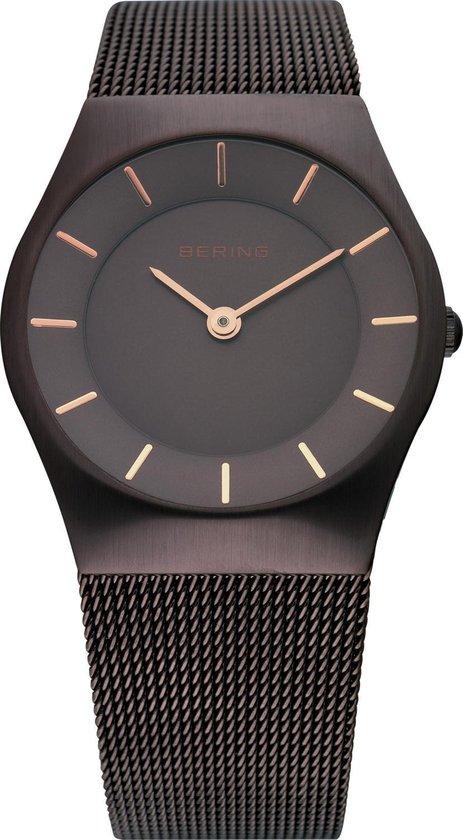 BERING 11930-105 – Horloge – Staal – Bruin – Ø 30 mm