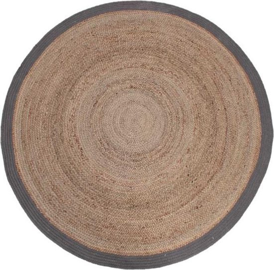 LABEL51 - Karpet Jute - diameter 150 cm - Grijs