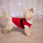Kerstman Kostuum Hond - Dierenkleding - Rood/wit - 34,5 x 32,5 x 2 cm