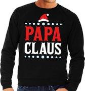 Foute kersttrui / sweater  voor heren - zwart - Papa Claus 2XL (56)