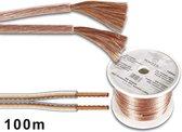 Velleman PLW215 audio kabel 100 m Transparant