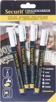 Securit Krijtstiften wit 1-2 mm (4 stuks)