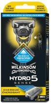 Wilkinson Houder – Hydro 5 Sense Energize (houder + 2 mesjes) , 1 set - 1 stuks