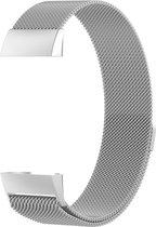 Milanees horloge bandje Zilver geschikt voor Fitbit Charge 3 / Charge 4 - SmartphoneClip