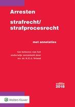 Boek cover Arresten strafrecht en strafprocesrecht 2018 van
