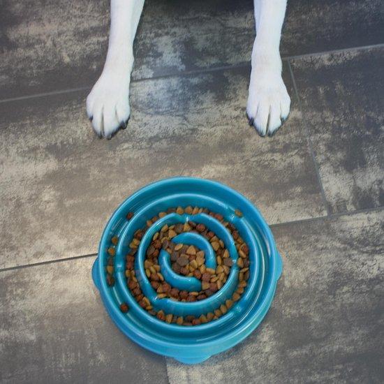 Anti schrok voerbak - Lichtblauw - Ø 28 cm
