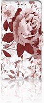 Bookcase Sony Xperia XZ1 Watercolor Flowers