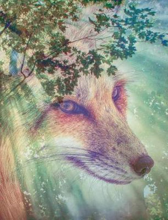 Forest Wolf Composition Notebook, Graph Paper