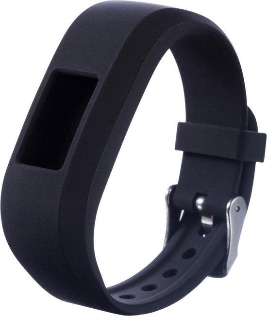 Siliconen Horloge Band Voor Garmin Vivofit Jr / Junior (2) - Armband / Polsband / Strap Bandje / Sportband - Zwart