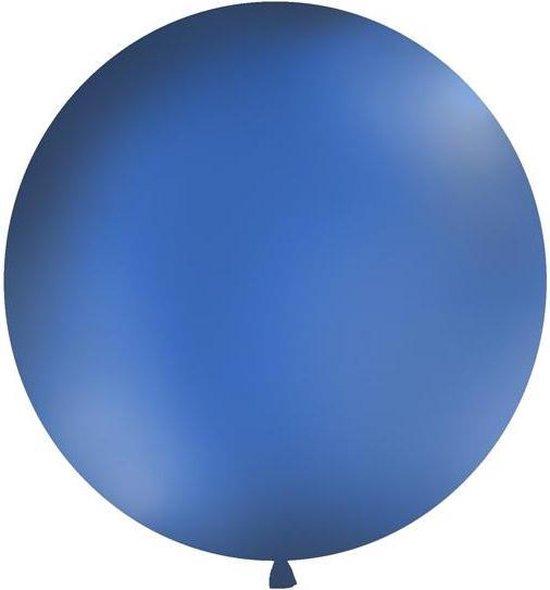 Ballonnen 1m, rond, Pastel navy blauw