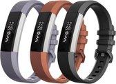 YONO Siliconen bandjes - Fitbit Alta (HR) - 3-pack - Small
