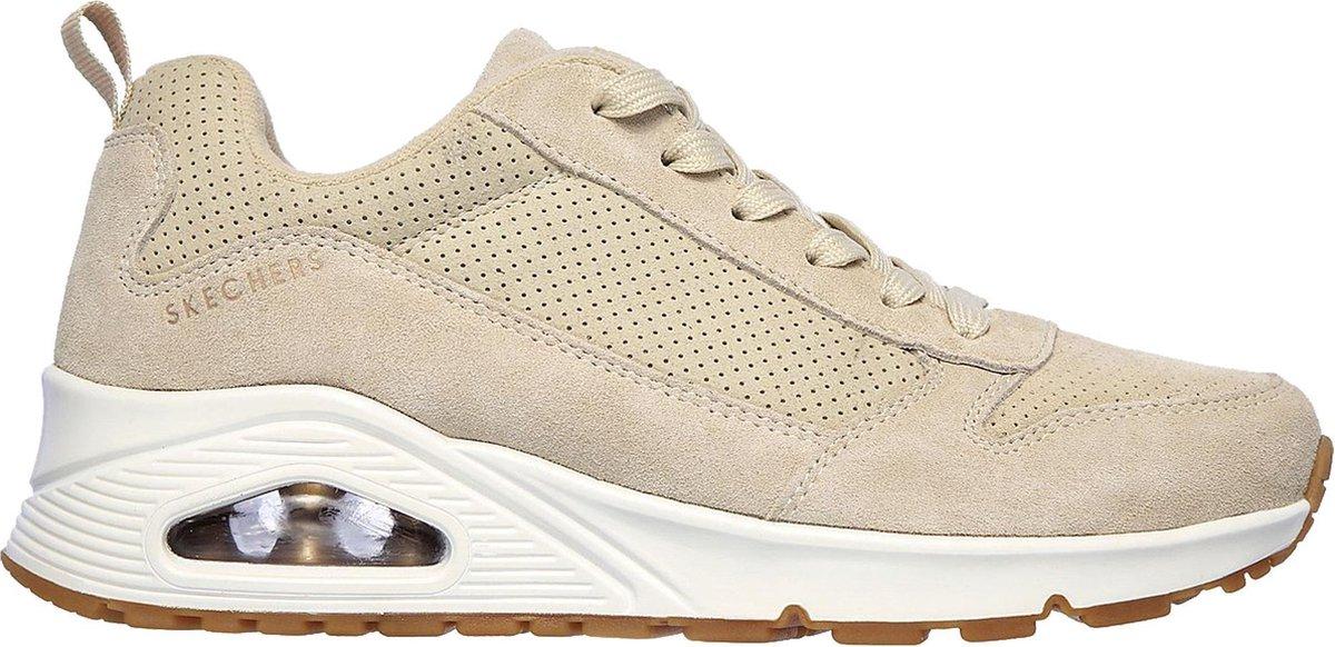 Skechers Uno dames sneaker - Beige - Maat 38
