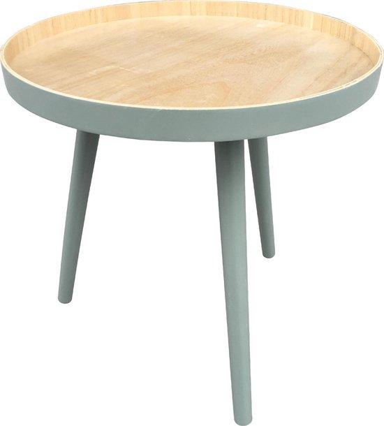 Woood Sasha - Bijzettafel - Groen - 41x41x40.5 cm