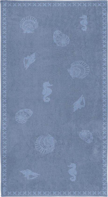 Seahorse Shells - Strandlaken XL - 100x200 cm - Jeans