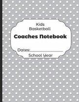Kids Basketball Coaches Notebook Dates