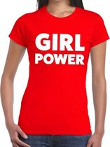Girl Power tekst t-shirt rood dames - dames shirt Girl Power L