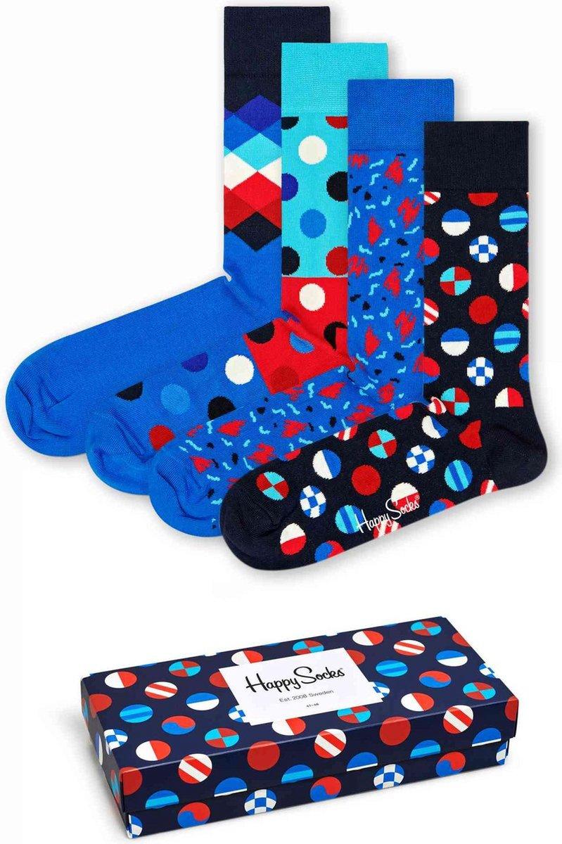 Happy Socks - Navy Gift Box in rood-wit-blauw - Unisex - Maat: 41-46