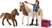 Schleich Paardenverzorgster met shetland pony 42362 - Paard Speelfiguur - Horse Club - 5 x 24 x 19 cm