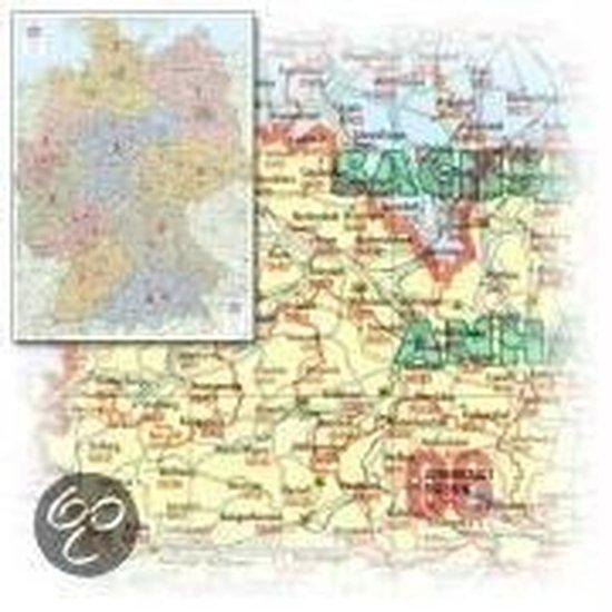 Bacher. Postleitzahlenkarte Deutschland 1 : 700 000. Gefaltet in Schutzhülle