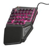 GXT 888 Assa - Gaming Keypad - Eénhandig - Zwart
