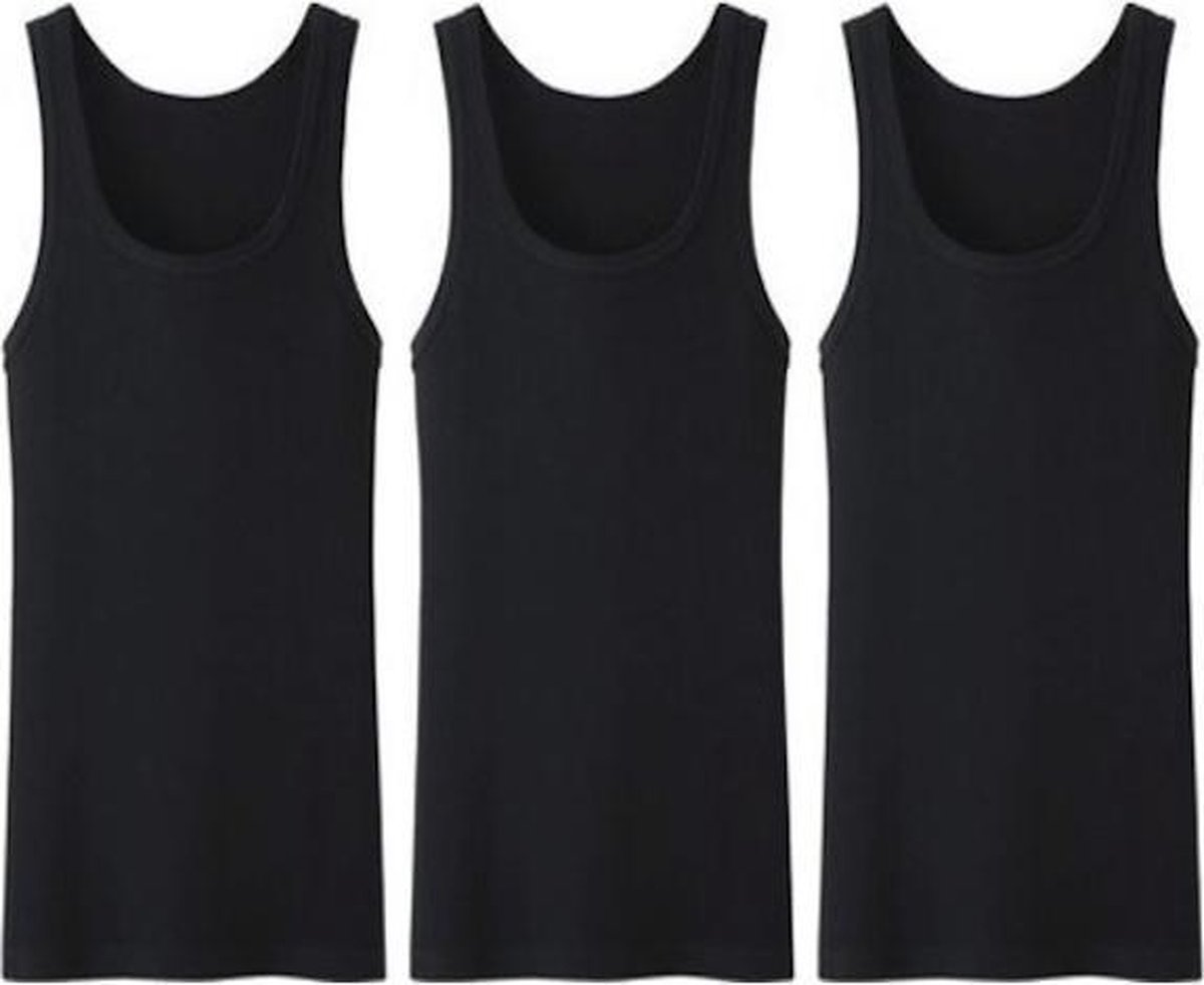 3 stuks Bonanza hemd - King size - 100% Katoen - Zwart - Maat 4XL/5XL