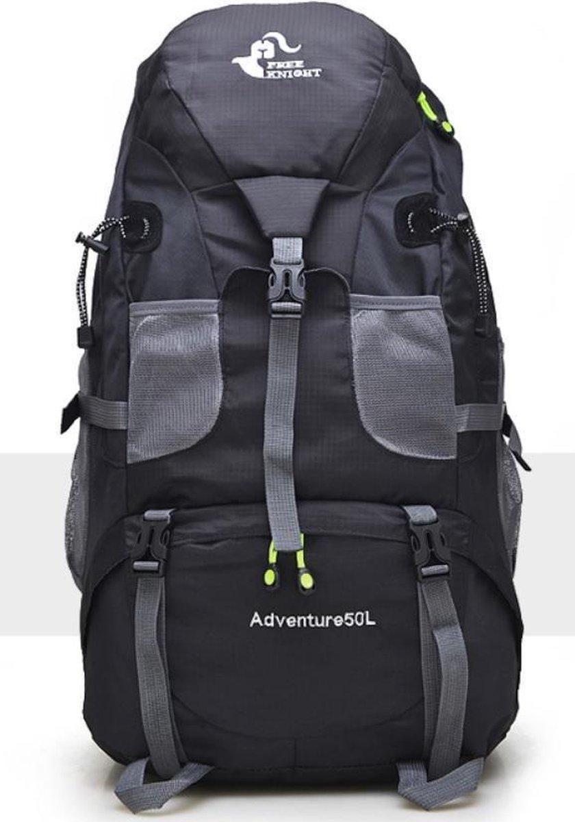 Backpack - Rugzak 50 liter zwart - lichtgewicht