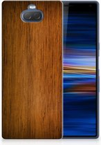 Sony Xperia 10 Plus Uniek TPU Hoesje Donker Hout