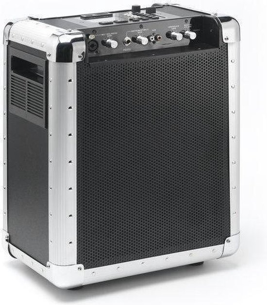 Lenco PA-80 - Draagbaar Geluidssysteem - Zilver
