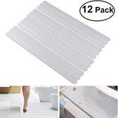 Zelfklevende Antislip Stickers - Douche/Bad/Trap Plakstrip - Antislip Strips 12 Stuks - 38x2 CM